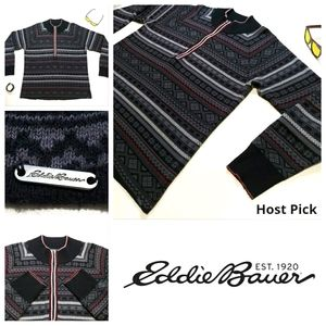 Eddie Bauer Quarter Zip Turtleneck Sweater